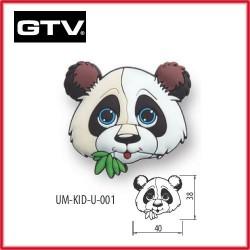 Детска мебелна дръжка гумирана панда обезопасена GTV