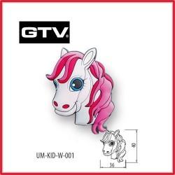 Детска мебелна дръжка гумирана кон обезопасена GTV