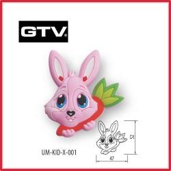 Детска мебелна дръжка гумирана заек обезопасена GTV