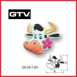 Детска мебелна дръжка гумирана крава обезопасена GTV