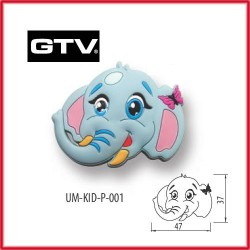 Детска мебелна дръжка гумирана слон обезопасена GTV
