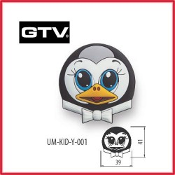 Детска мебелна дръжка гумирана пингвин обезопасена GTV