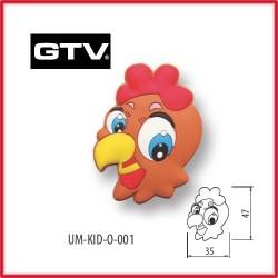 Детска мебелна дръжка гумирана кокошка обезопасена GTV