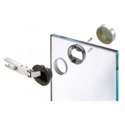 Мебелна панта FERRARI за стъклена врата ф30 покрит кант