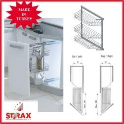 S2201 Кошница за ъглов шкаф с врата на 45 градуса STARAX