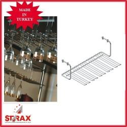S4014 Поставка висяща за чаши за под горен ред шкафове 5 секции STARAX