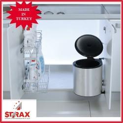 S2251 Кошче за отпадаци за вграждане инокс STARAX