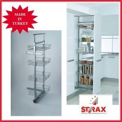S1107 Шкаф колона телескопично изтегляне - 3 кошници STARAX