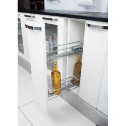 S 2413 Кошница с пълно изтегляне за бутилки странично водене с плавно прибиране STARAX с тандемни водачи BLUM