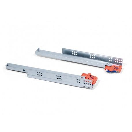 Тандемен механизъм за чекмедже 300-500мм скрит монтаж с щипки с пълно изтегляне и плавно прибиране EMUCA