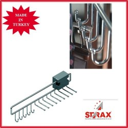 S6052 Закачалка за вратовръзки и колани изтегляща се STARAX